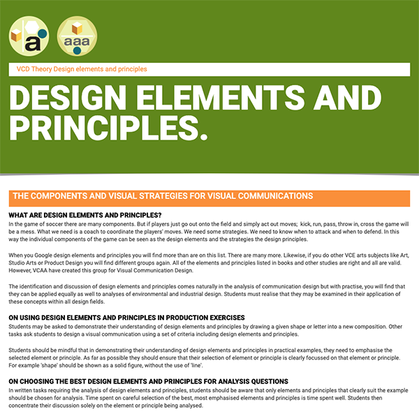 Design Elements And Principles For Visual Communication